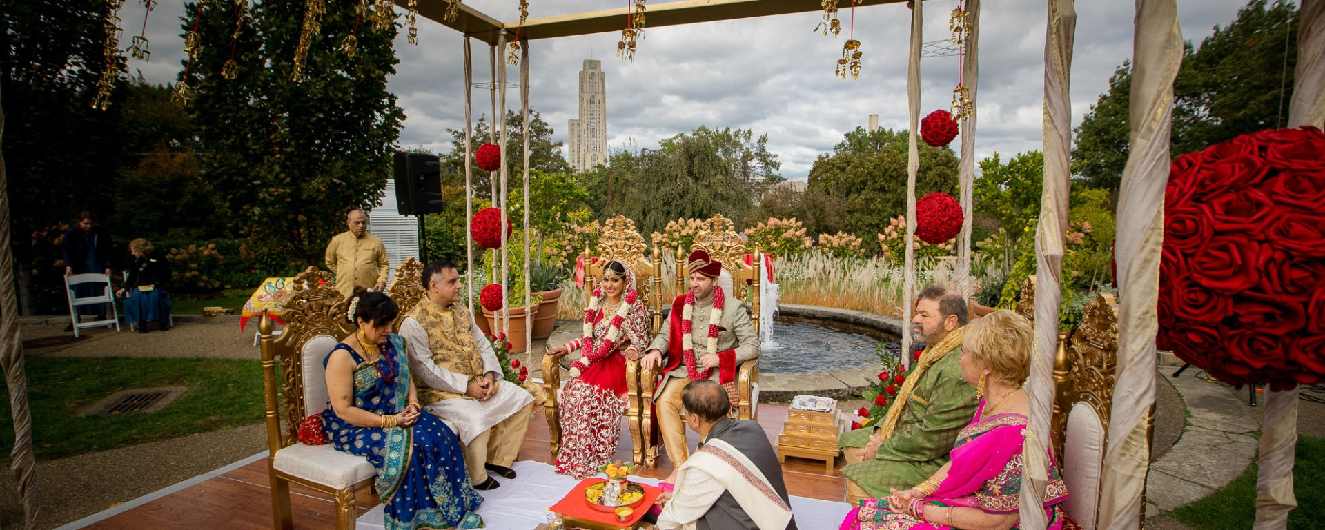 Indian Wedding ceremony Phipps Conservatory and Botanical Gardens