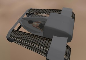 The Tread is a 'simple' single mode land vehicle in Second Life