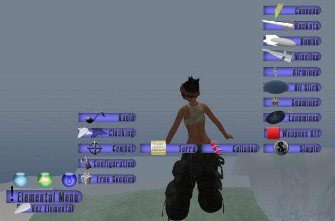The Elemental HUD reveals additional UI elements and choices only as necessary