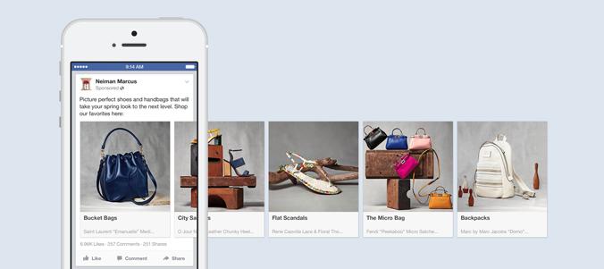 Neiman Marcus Facebook Carousel Ad
