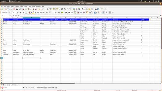 Bimah List, exported