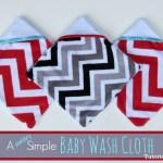 Terry Cloth Baby Wash Cloth Tutorial Pattern