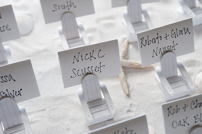 beach chair placecards