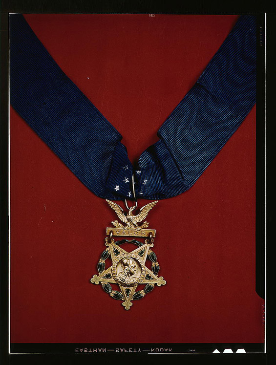[U.S. Army Medal of Honor with neck band] (LOC)