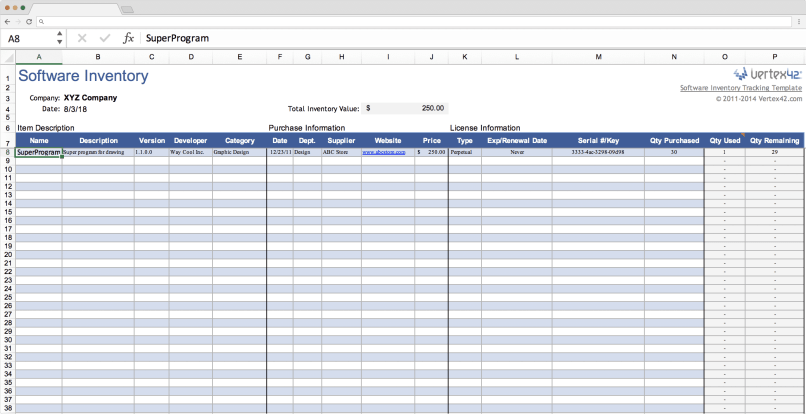 Inventory Excel Tracking Templates