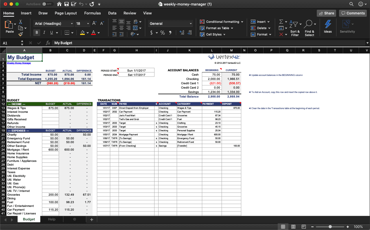 Free Budget Template In Excel The Top 8 For