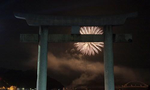 豊町七夕納涼祭の花火