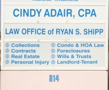 Law Office of Ryan S. Shipp, PLLC – New Law Office Signage in Lantana, Florida
