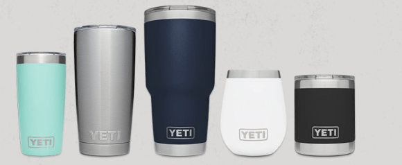 Different styles of Yeti Rambler Products