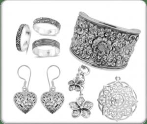 Minimalistic metal jewelry.