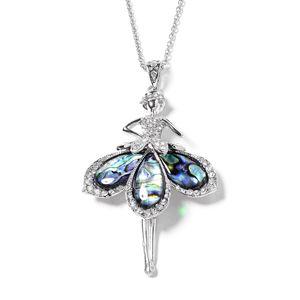 Abalone shell ballerina pendant.