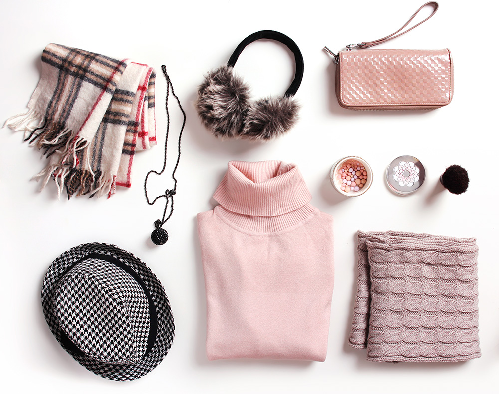 Pink outfit flat lay