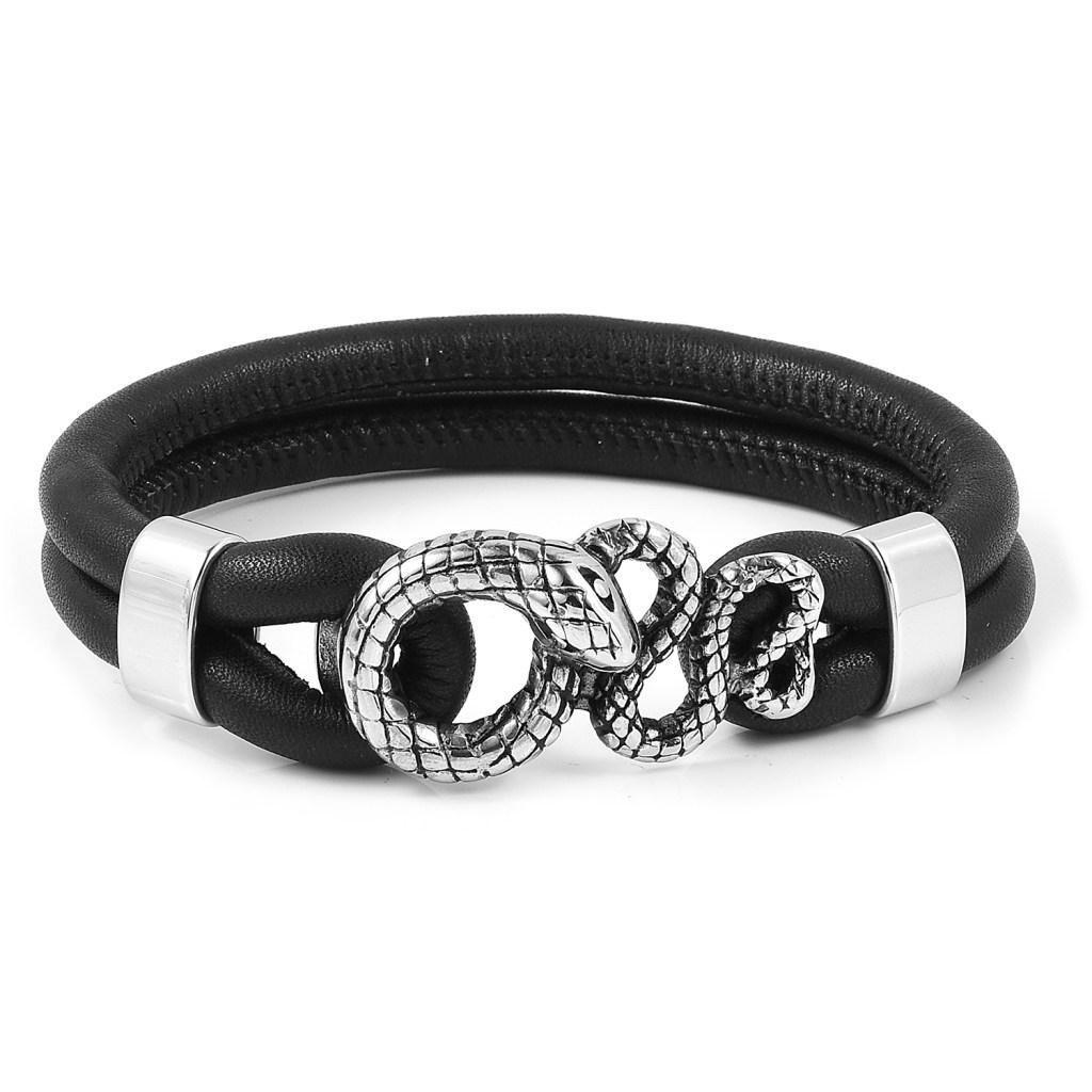 Steel snake bracelet.
