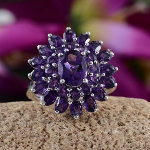 February birthstone amethyst ring