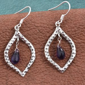 Artisan Crafted Amethyst Sterling Silver Earrings