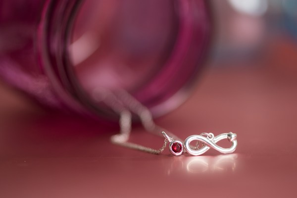 Sterling silver Always Love pendant.
