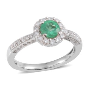 emerald proposal ring