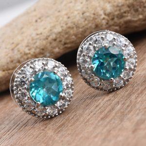 Gem sterling silver earrings