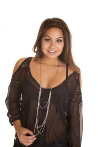 chunky necklace for sheer clothing