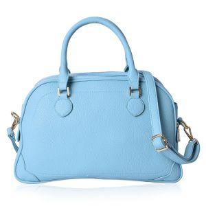 Blue pastel handbag.