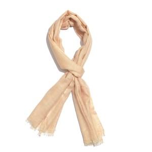 Peach pastel scarf.