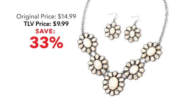 Howlite jewelry set.