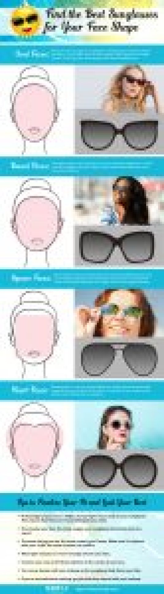 How to Choose Sunglasses for Your Face Shape Infographic