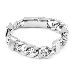 Men's curb link bracelet.