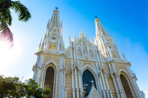Brazilian church during a sunny day.