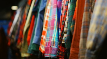 Rack of flannels