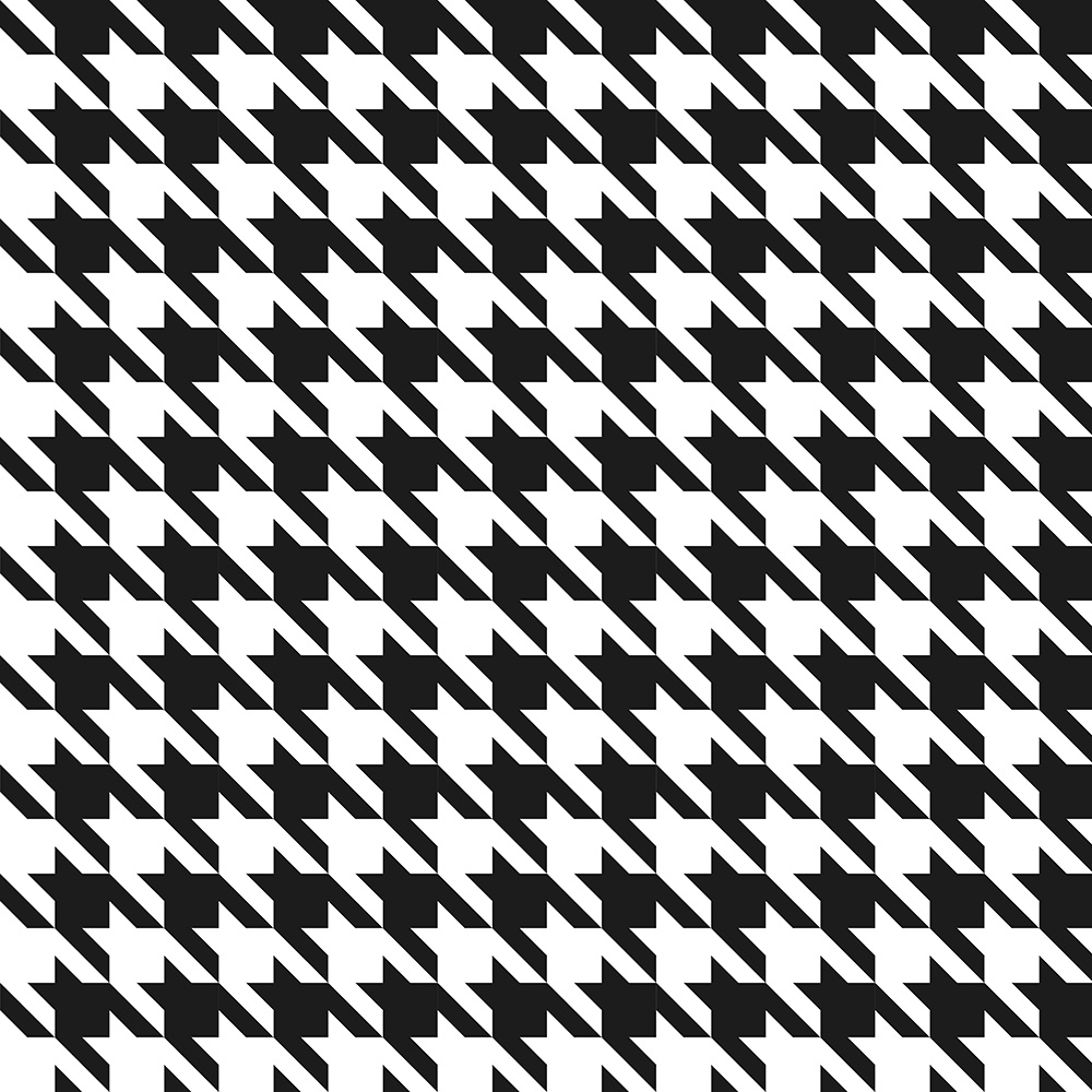 Houndstooth print.