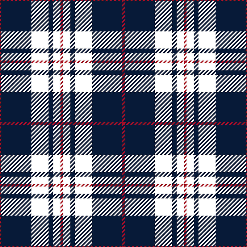 Plaid pattern.
