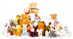 Assortment of stuffed animals.
