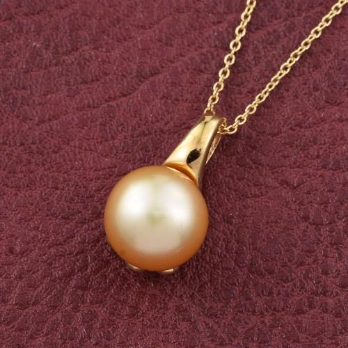 South Sea gold vermeil pendant.
