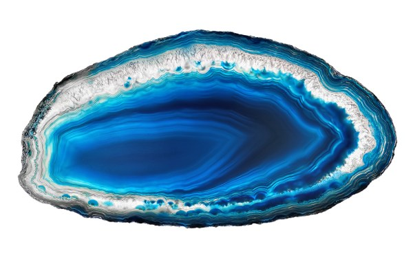 Blue agate slice.