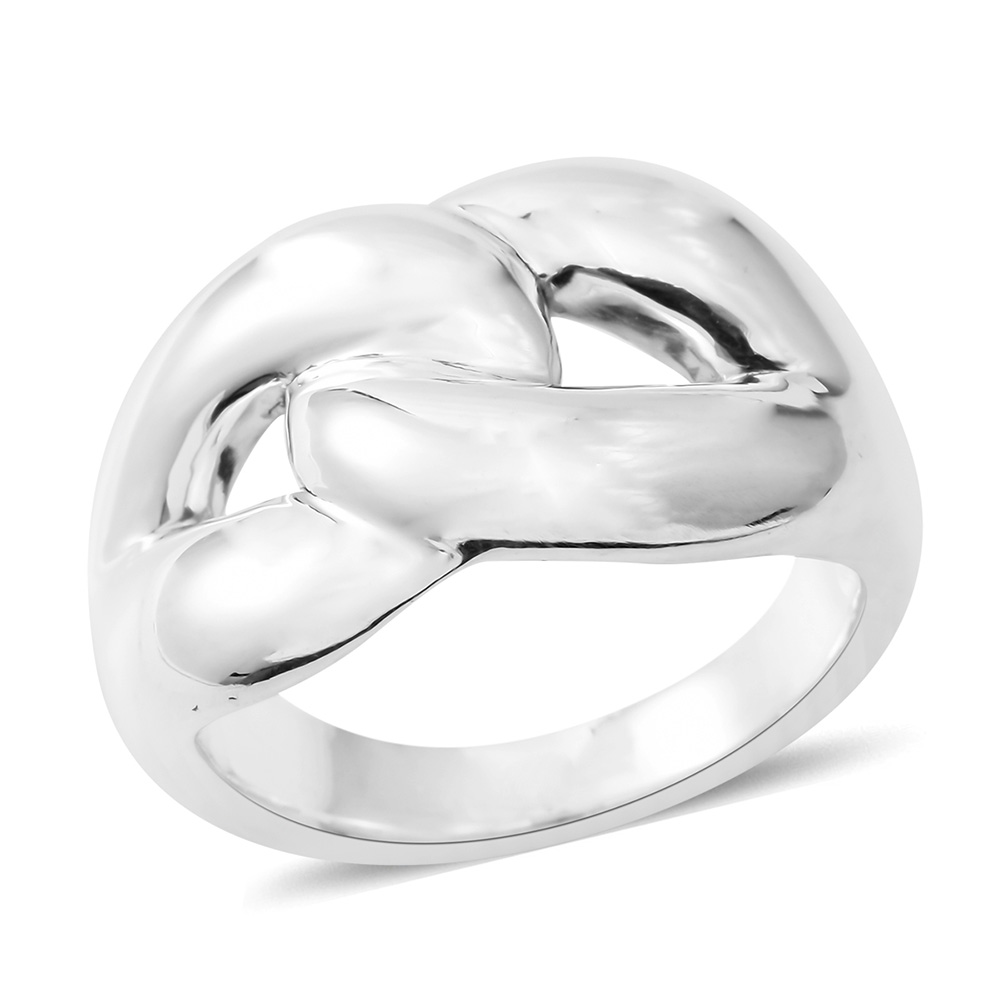 Closeup of simple ring with knot design