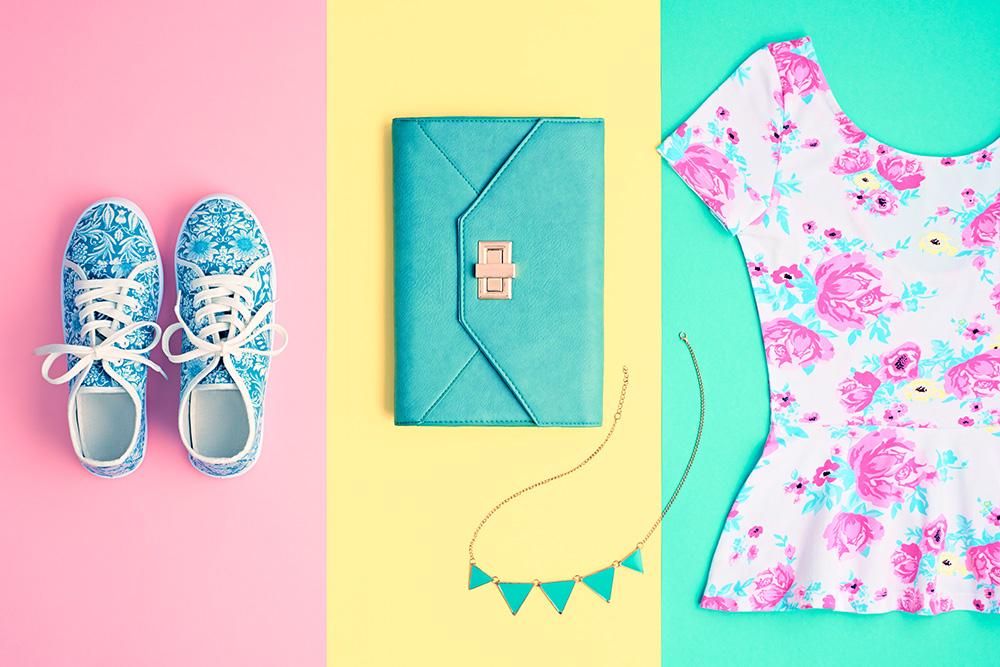 Neon colorful accessories