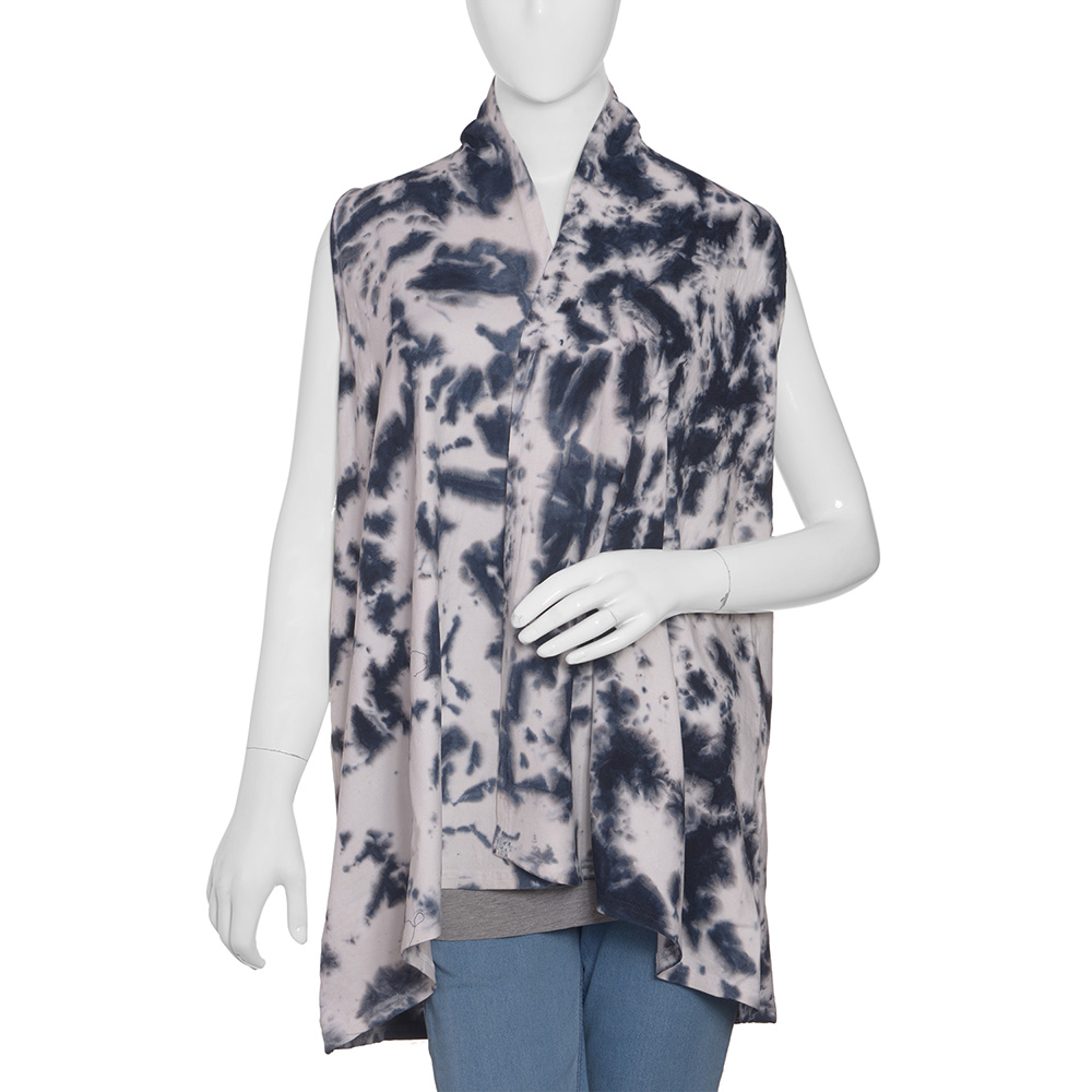 Monochromatic tie dyed top on mannequin