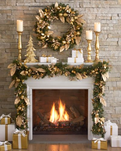 Decked out fireplace