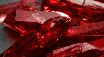 Closeup of rubies