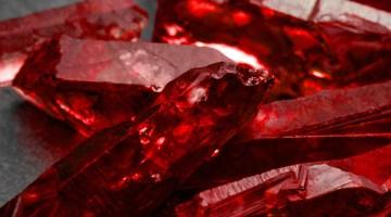 Closeup of rubies