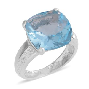 Sky blue topaz ring.