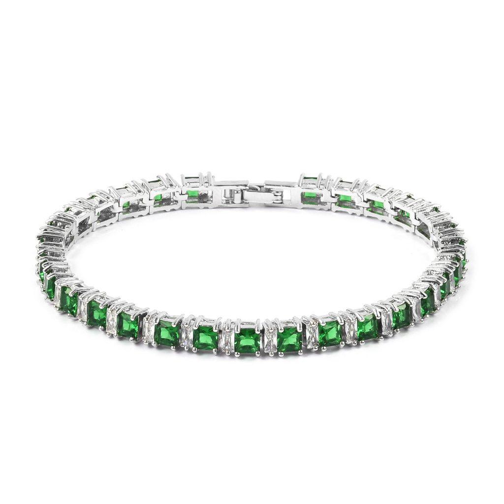Emerald tennis bracelet