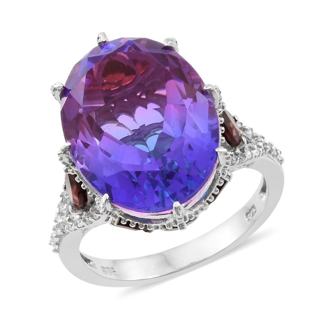 Midnight Fuschia Quartz ring