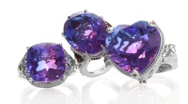 Midnight Fuschia Quartz rings