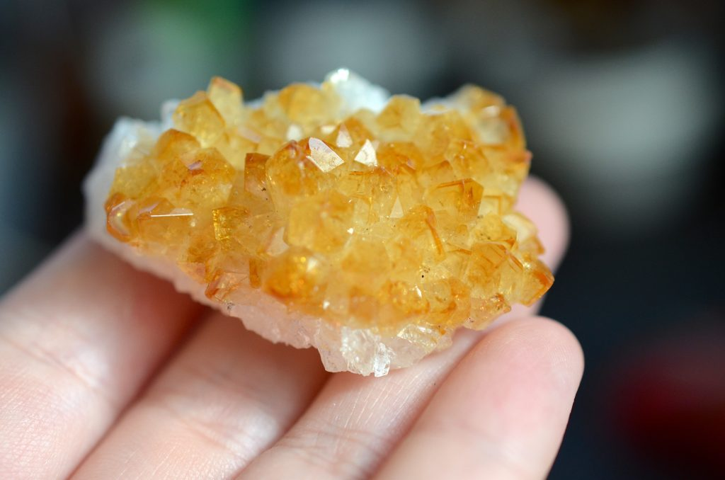 Small citrine geode crystal.