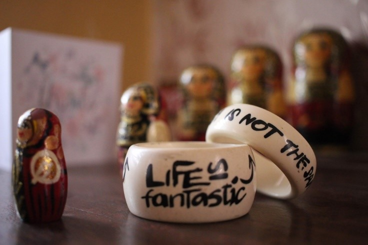 Cuff bangle with love quote