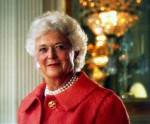 Official White House Barbara Bush portrait, 1992.