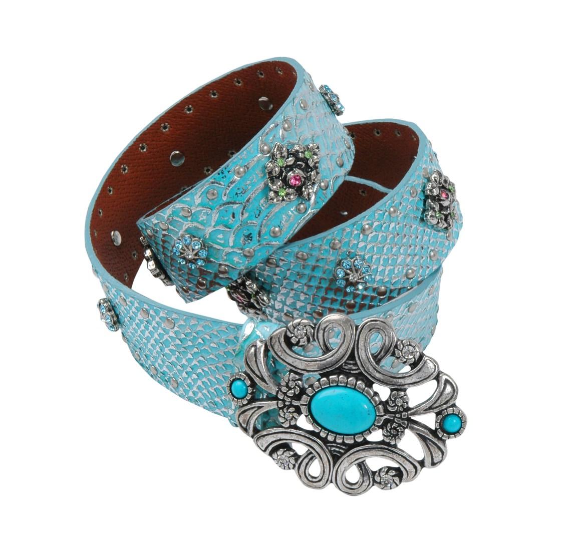 Handmade belt using vintage brooch as a buckle.