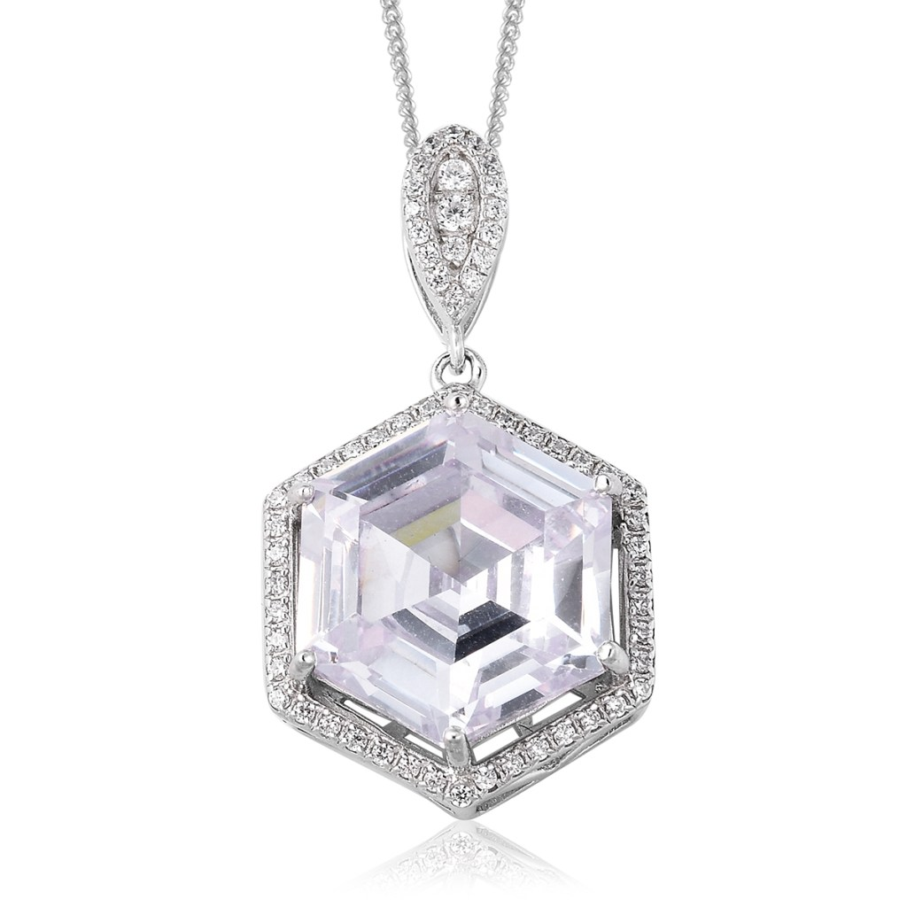 LUSTRO STELLA Simulated Diamond Pendant Necklace